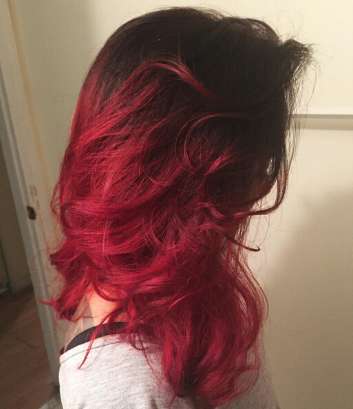 Beautiful Ombre Red Long Hair
