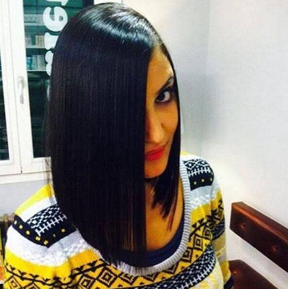 Beautifully Long Bob Haircut with Straight Hair