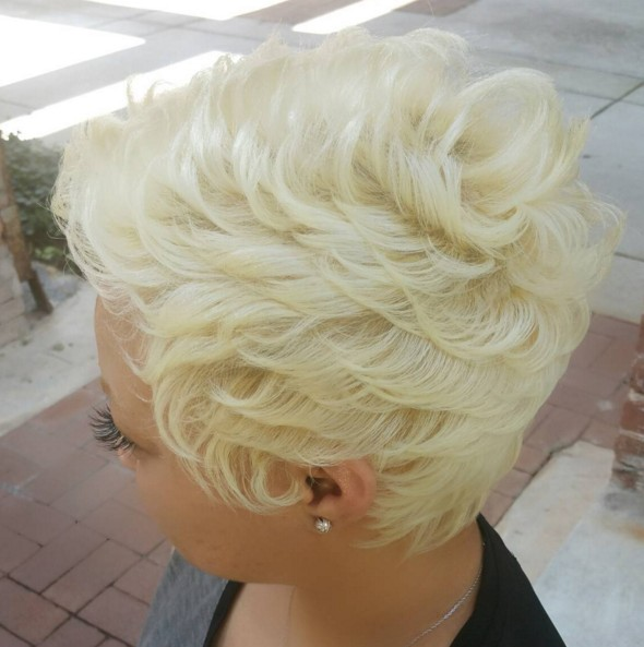 Blonde Short Pixie Haircut - Afro Hairstyle Ideas 2016