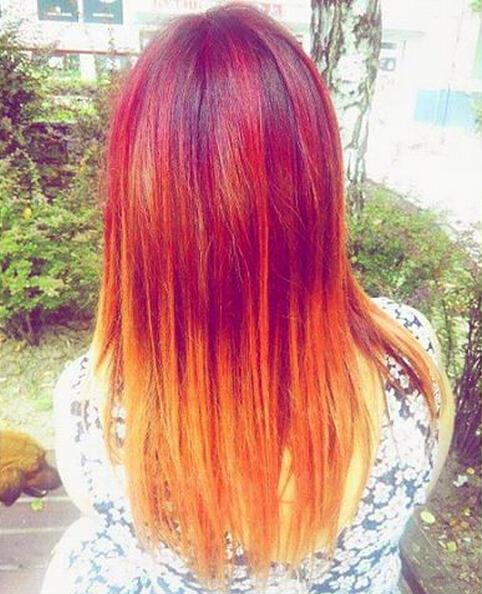 Blondes Red Hair Colour Idea