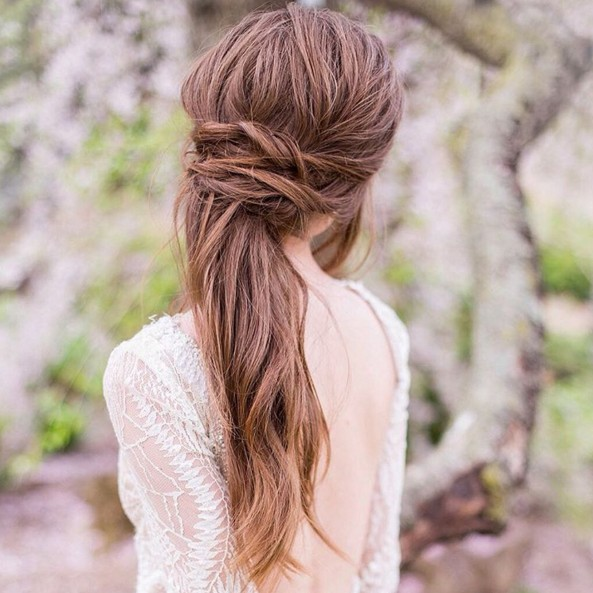 Bridal Hairstyles - Cute Pony