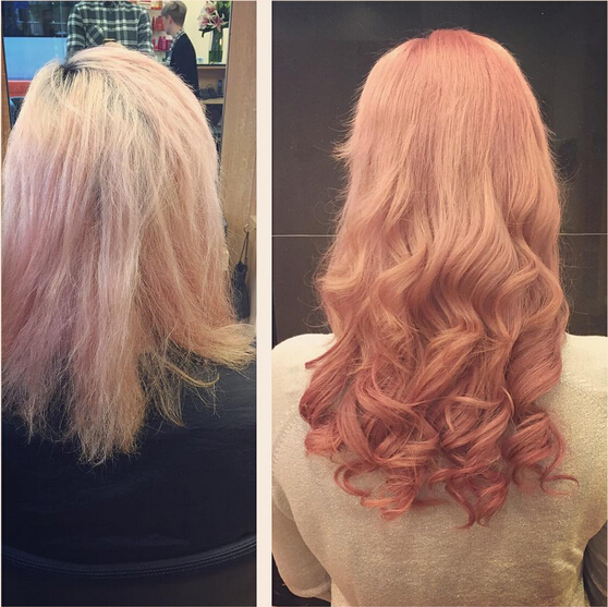 Curly, Long Hairstyle for Pink Hair
