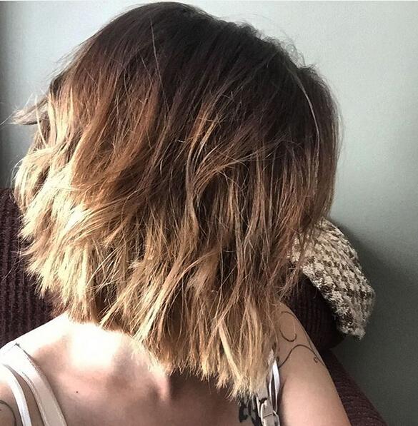 Dark Ash Blonde Bob Hairstyle With Thick Hair Popular Haircuts