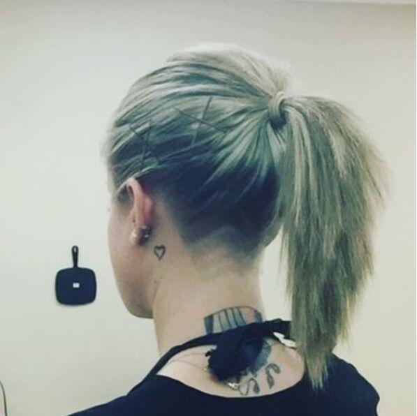 Fancy Undercut Hairstyle for Long Hair
