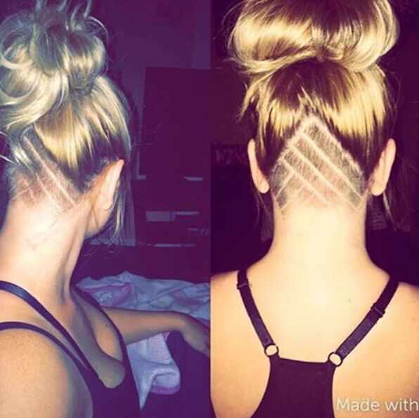 Fancy an Undercut Hairstyle with Bun Updos
