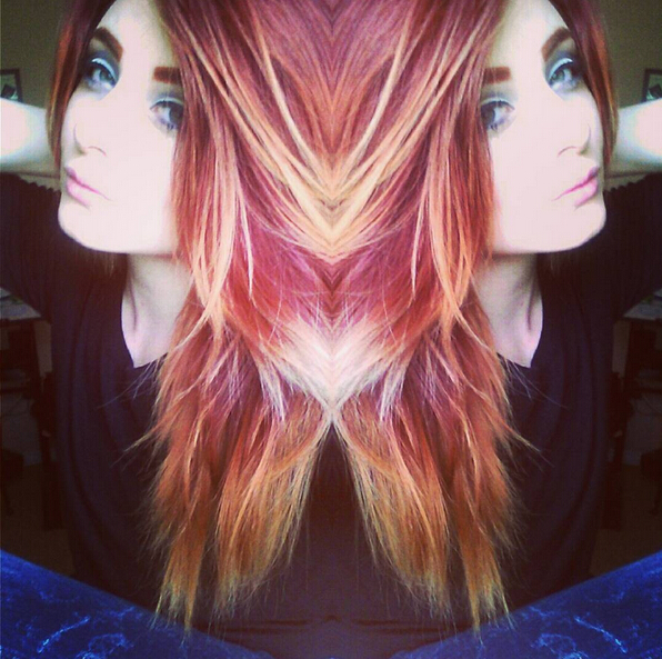 Layered, Straight Long Hairstyle - Stunning New Red Hair Colour Ideas