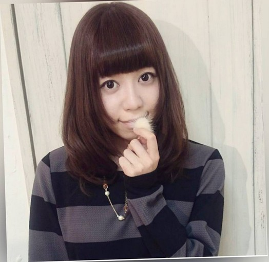 Long Bob Haircut with Blunt Bangs