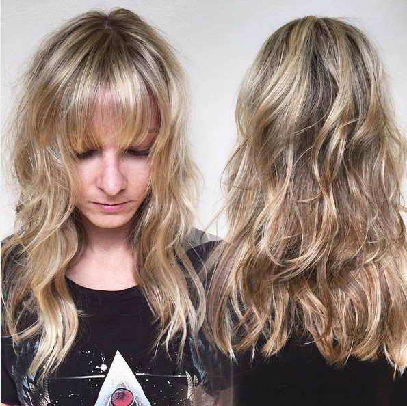 15 Hottest Medium Length Hairstyles with Bangs - PoPular ...