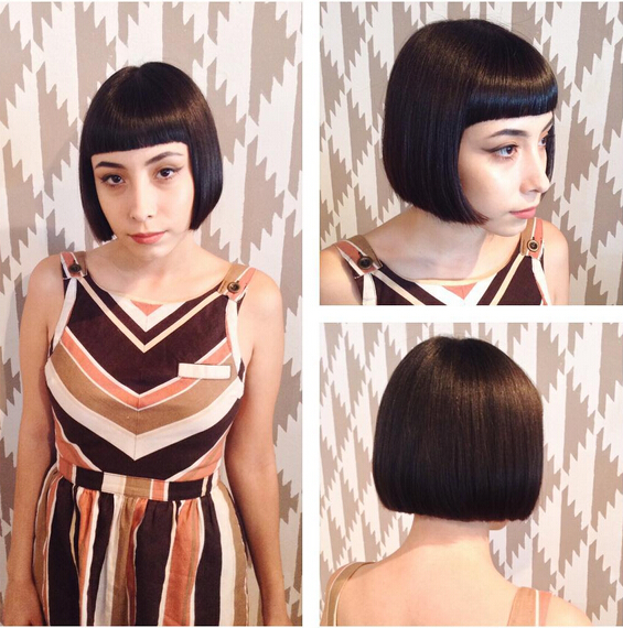 Perfect Sleek Bob and Bangs