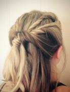 Pretty Twisty Half-Up Half-Down Hairstyles