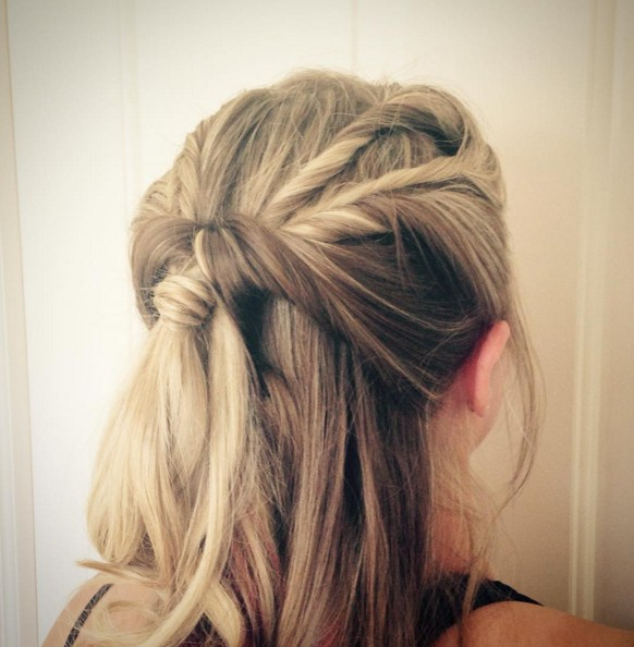 Pretty Twisty Half-Up Half-Down Hairstyles
