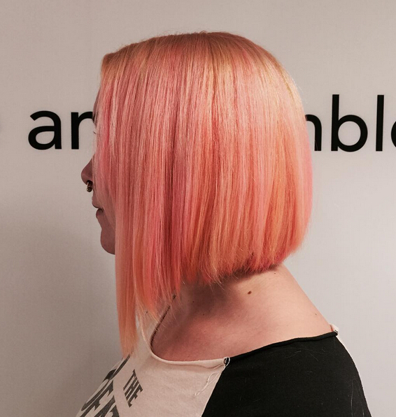 Rose Gold Straight Bob Hair Style