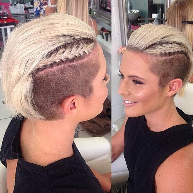 Short Hairstyle with Braid