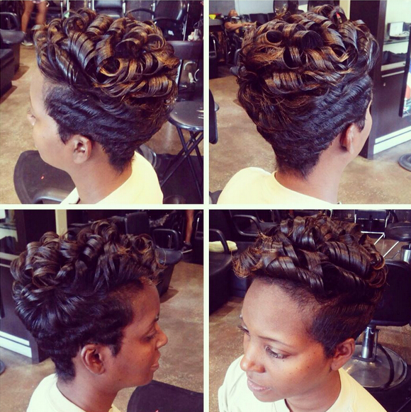 Short Hairstyles with Curly Hair - African American Women ...
