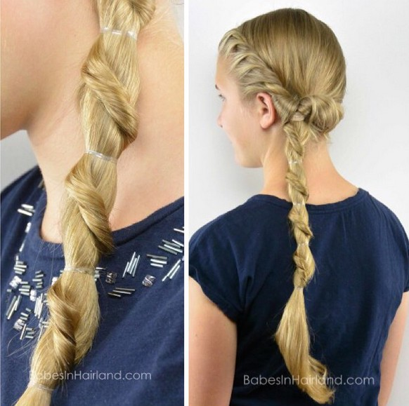 Spiral Staircase Ponytail Hairstyle