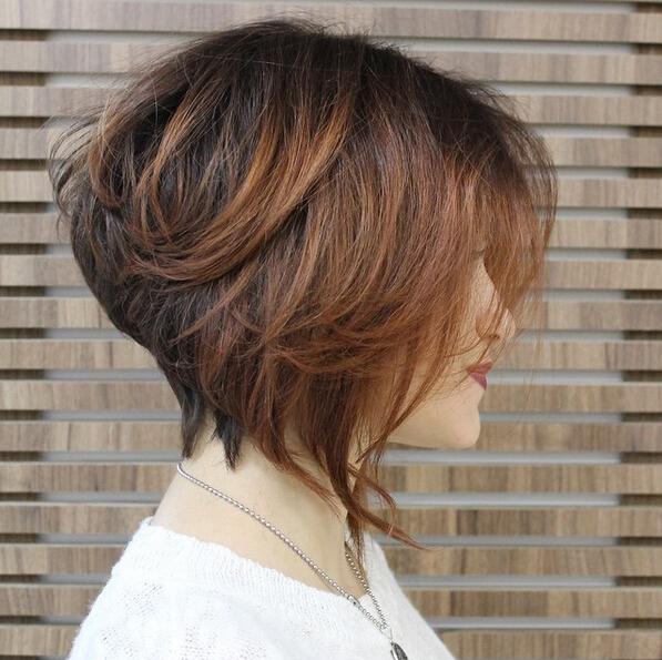 Astounding Stacked Bob Haircut Side View Easy Everyday Hairstyles For Short Short Hairstyles Gunalazisus