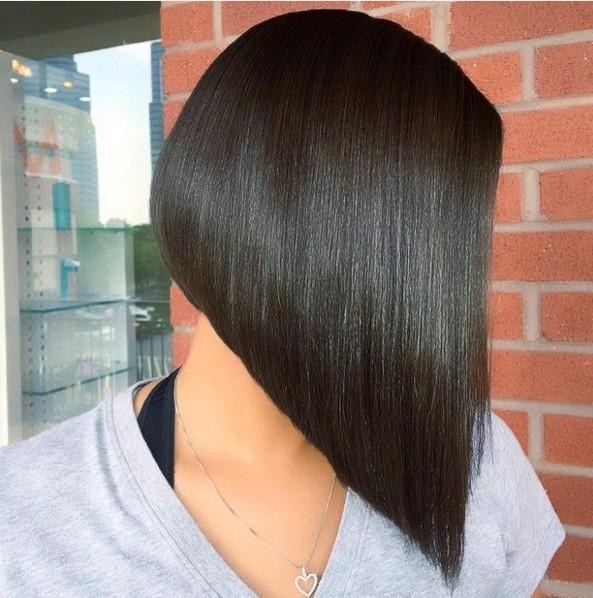 Straight Angled Bob Hairstyle Popular Haircuts