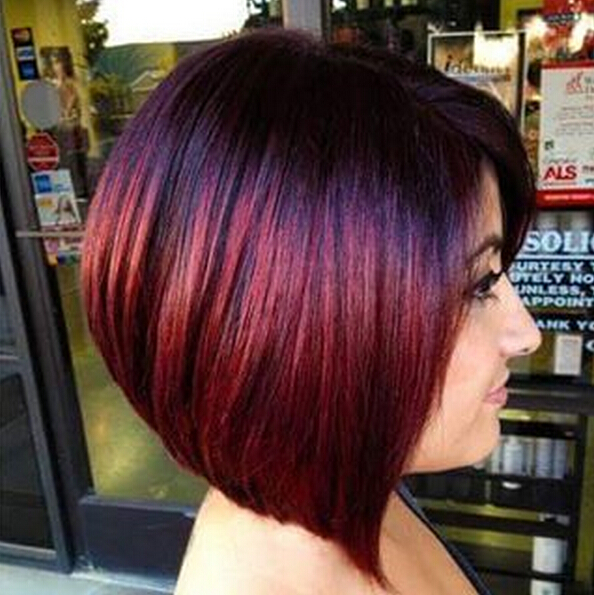 Straight Bob Haircut - Stunning New Red Hair Colour Ideas