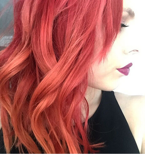 Stunning New Red Hair Colour