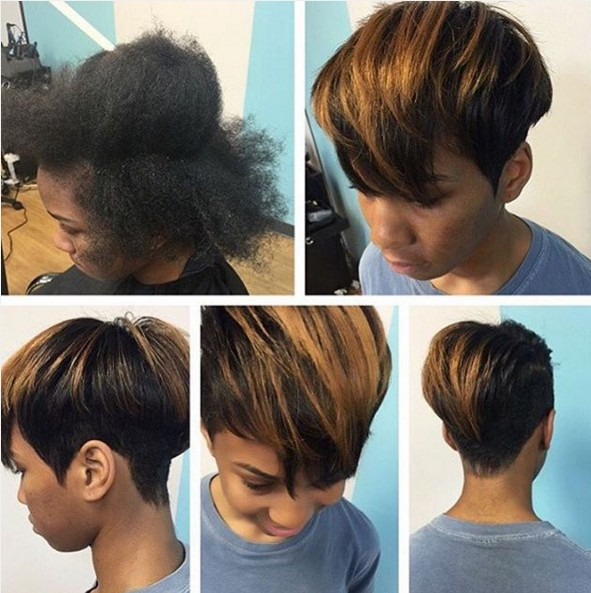 Trendy, Short Straight Haircut