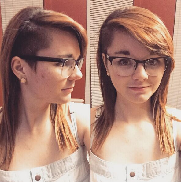 Trendy Undercut Hairstyle for Medium Hair