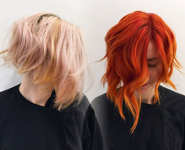 Wavy Bob Haircut - Red Hair Colour Idea