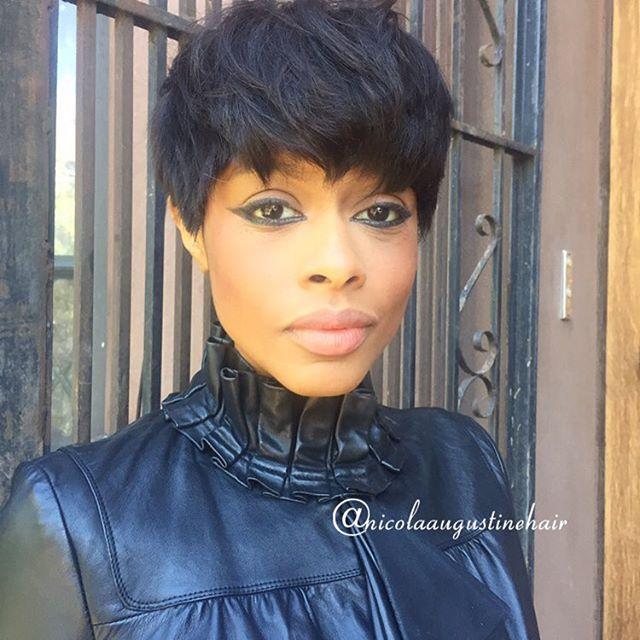 Groovy Short Black Pixie Hair Cuts Short Hair Fashions Short Hairstyles For Black Women Fulllsitofus