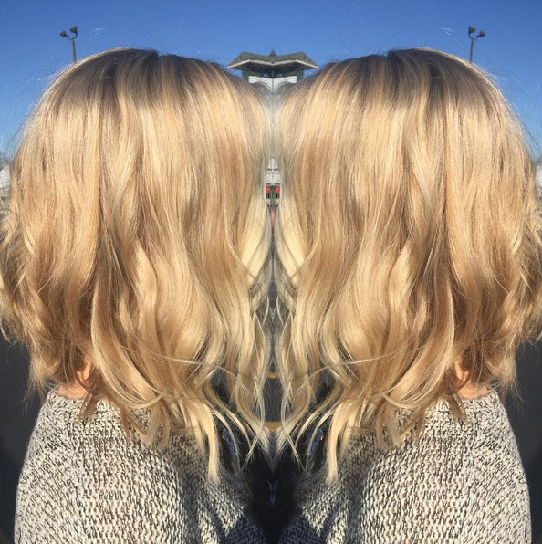 Angled Bob Haircut - Waves, Long Bob