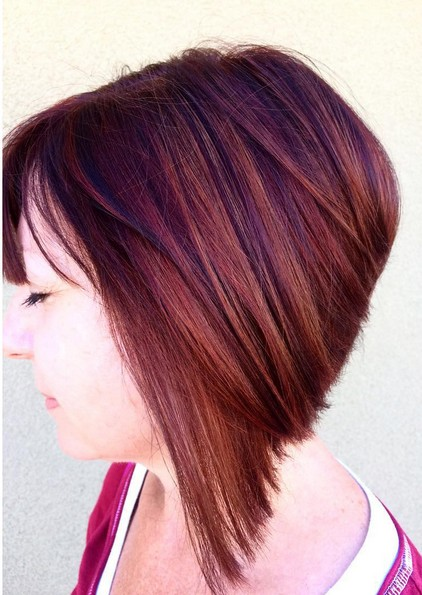 Angled Bob Hairstyle - Amazing Hair Color 2016