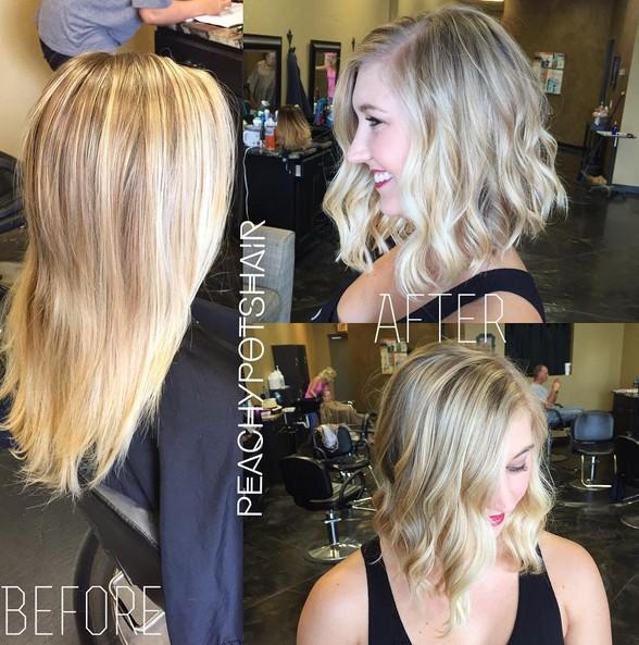 Angled Bob Hairstyles - Short Wavy Haircut