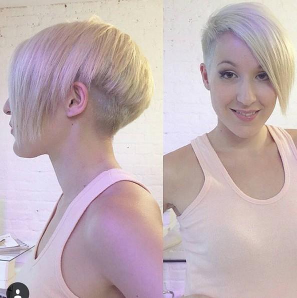 Asymmetrical Short Haircut