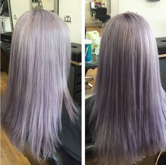 Beautiful Hair Color with Medium Straight Hair