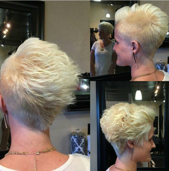 Stylish Blonde Pixie Cut - Short Hairstyle Ideas for Women Over 30, 40, 50