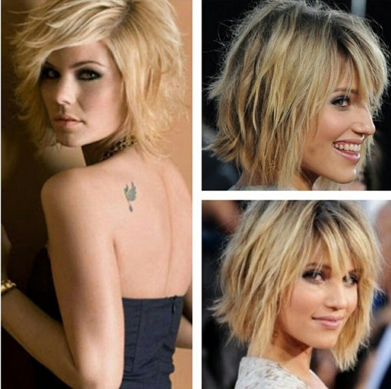 Blonde Shag Haircut Designs