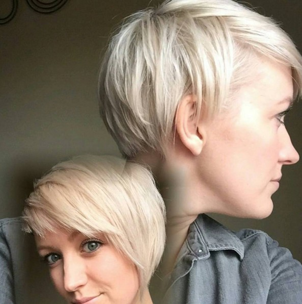 Cute Blonde Short Haircuts for Thick Hair 2016