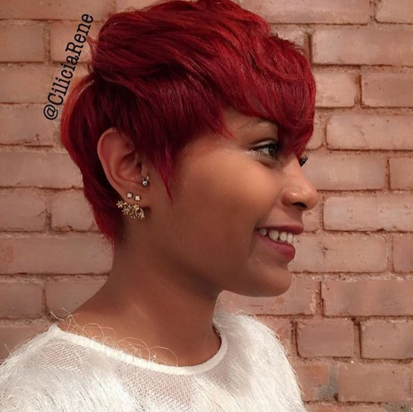 Cute, Red Pixie Hairstyle