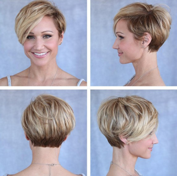 Layered Pixie Haircut - Blonde and Brown