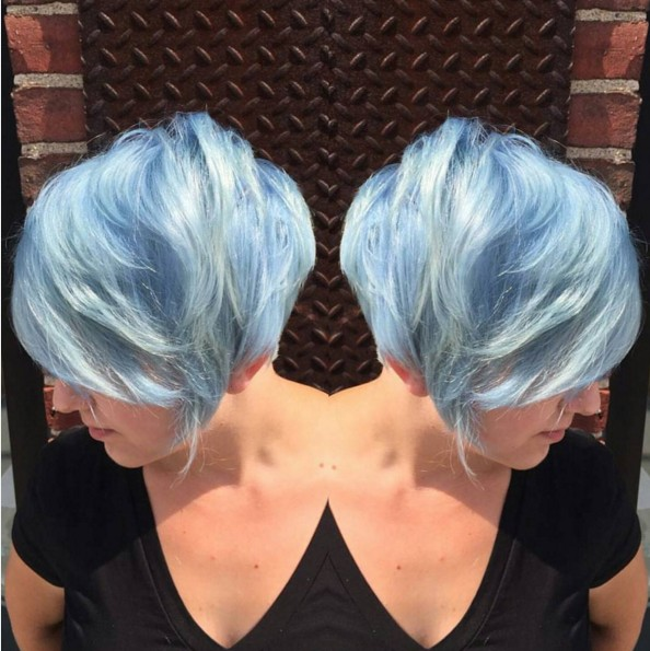 Long Pixie Haircut - Stylish Hair Color