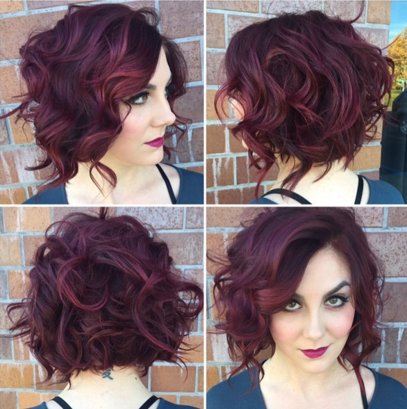 Messy Curly Bob Hairstyle - Stylish Office Hairstyles