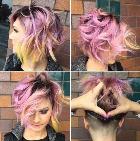 Messy, Layered Bob Hair Cuts - Shaved Hairstyles