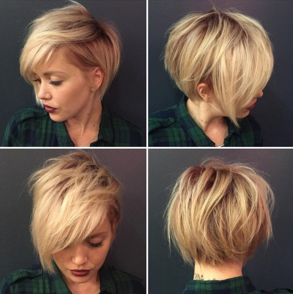 Messy Gy Hairstyle For Short Hair Haircuts 2016