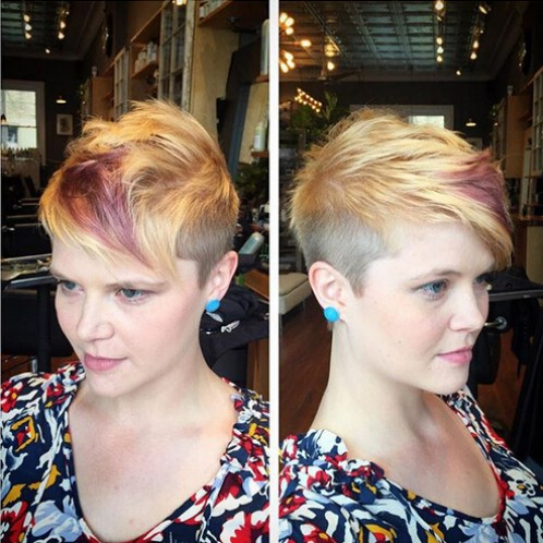 Messy Short Hairstyle for Fine Hair