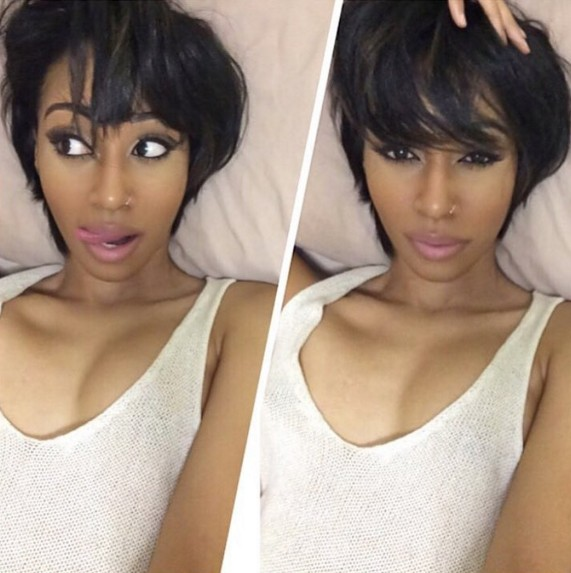 cute short haircuts for black girls 20 trend setting hair style ideas for black amp 3471 | Ombre Hairstyle for Short Straight Hair Short Hairstyle for Black Women and Girls 2016