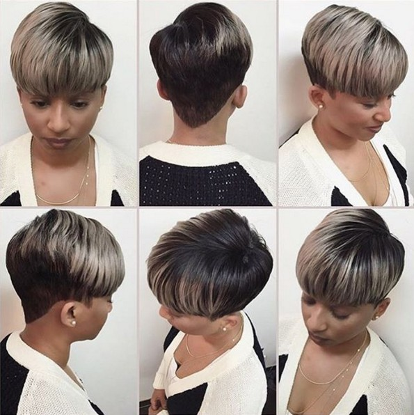 Ombre Hairstyle for Short Straight Hair - Trend-setting Hair Styles for Black Women and Girls
