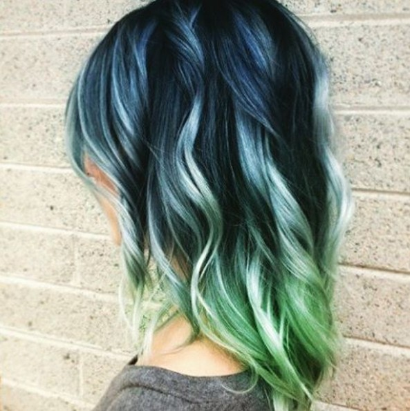 Ombre Wavy Hair Style