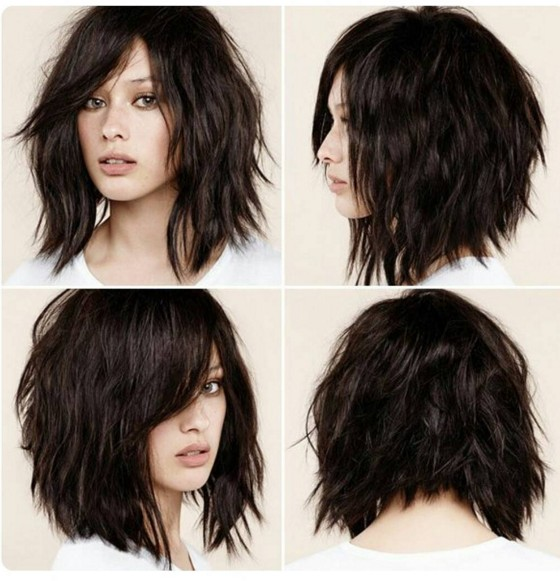 Style Layered Shaggy Hair Styles Medium Length 2013  Short Hairstyle