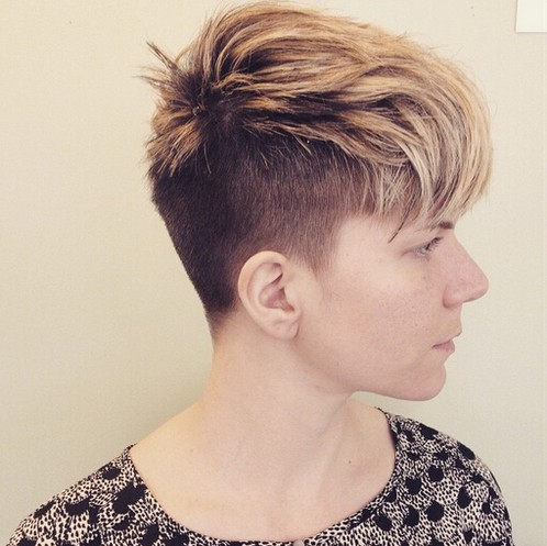 Shaved Haircut for Short Thick Hair - Side View