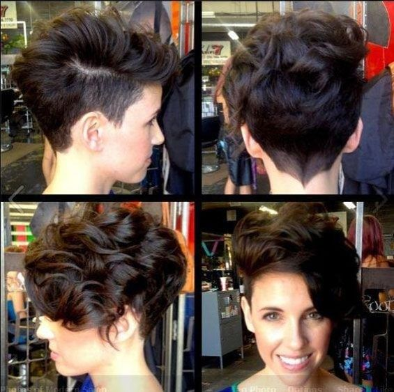 Shaved Haircuts For Curly Hair Short Hairstyle Ideas For