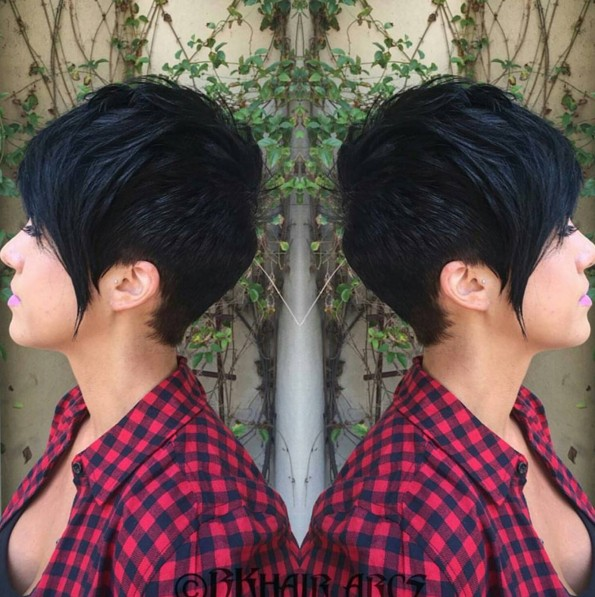 Short Pixie Hairstyles with Long Bangs