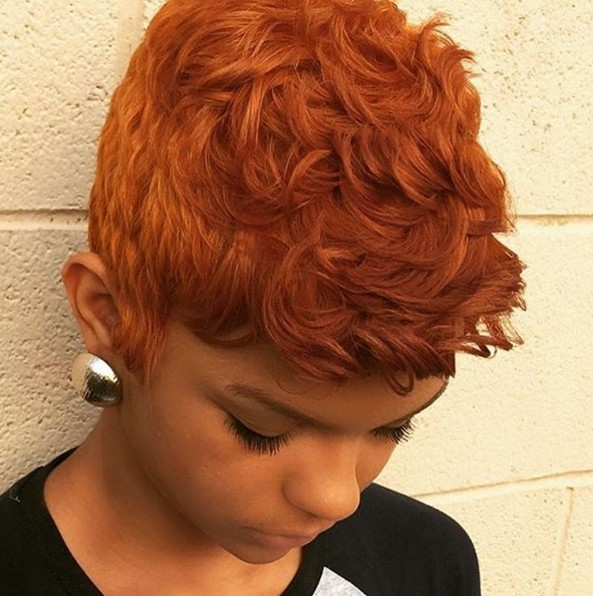 Pixie Cut Natural African American Hair